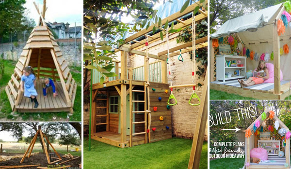 garden design with fabulous backyard playhouses sure to delight your kids with images of gardens from