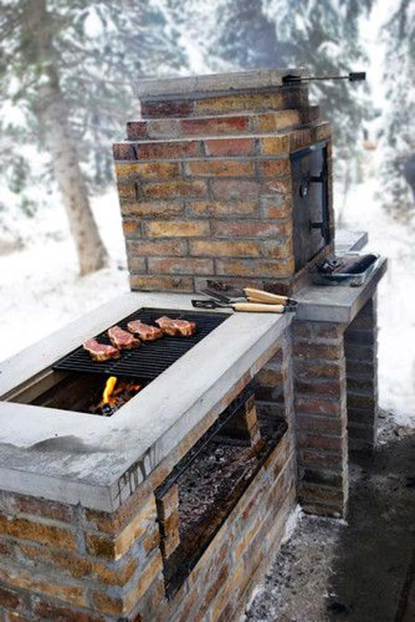 Cool DIY Backyard Brick Barbecue Ideas - Amazing DIY ... on Backyard Masonry Ideas id=84362