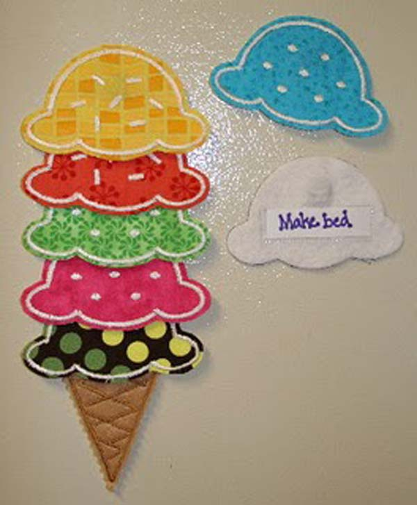 How To Make An Ice Cream Chore Chart