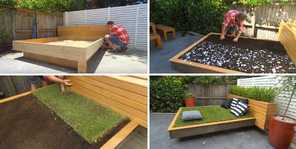 Build a Crazy Grass Day Bed For Napping In the Sun