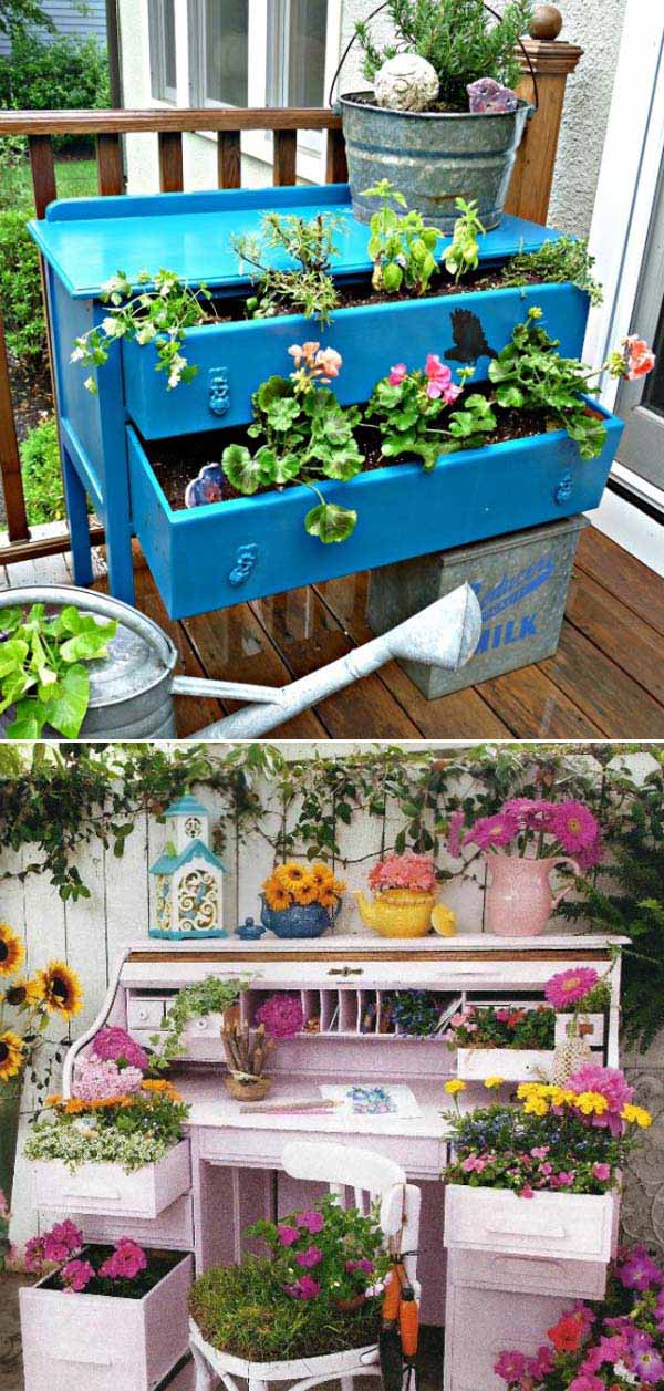 Awesome Old Furniture Repurposing Ideas for Your Yard and ...