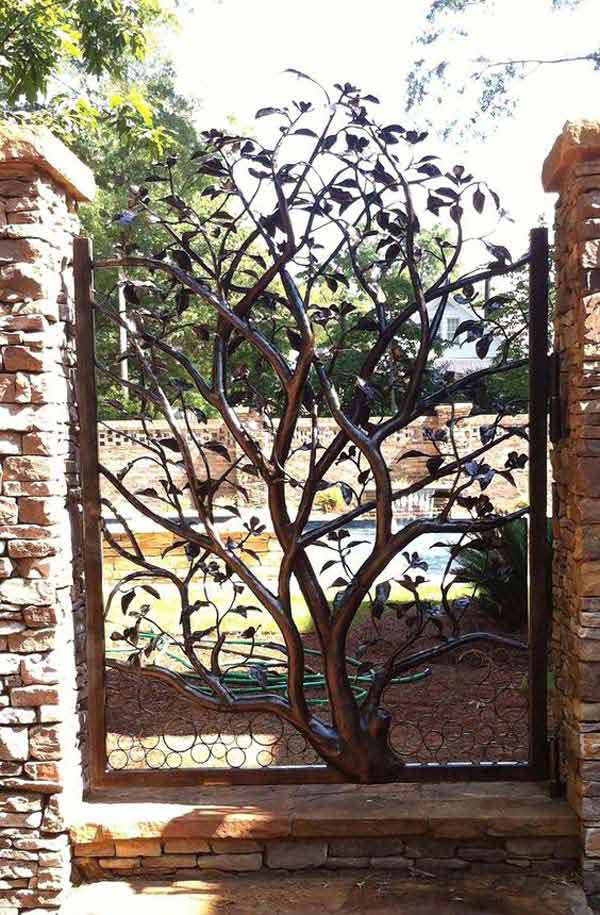 Transform A Garden Gate Into Beautiful Sculpture And Garden Art.