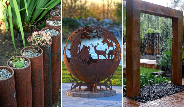 20 amazing diy ideas for outdoor rusted metal projects - Diy Garden Ideas