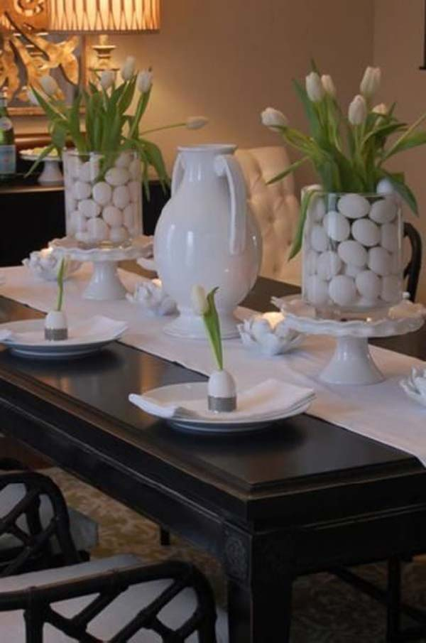 Top lovely and easy to make easter tablescapes