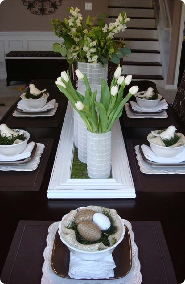 Top 47 lovely and easy to make easter tablescapes amazing diy interior home design - Table easter decorations ...