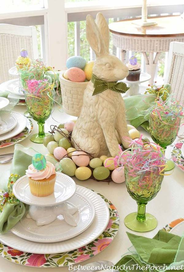 Top 47 lovely and easy to make easter tablescapes amazing diy interior home design - Easter table decorations meals special ...