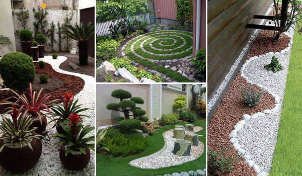 25 cool pebble design ideas for your courtyard - Courtyard Design Ideas