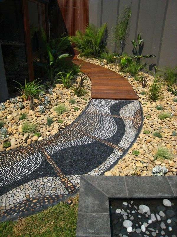 25 Cool Pebble Design Ideas for Your Courtyard - Amazing ... on Backyard Pebbles Design id=53745