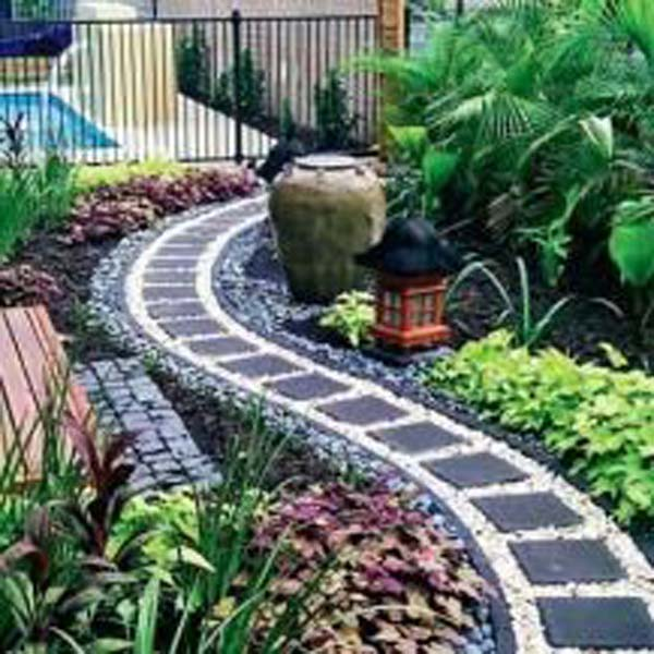 Top 32 Diy Fun Landscaping Ideas For Your Dream Backyard: 25 Cool Pebble Design Ideas For Your Courtyard