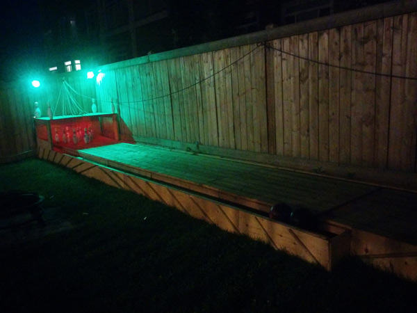 build a semi automatic bowling alley in your backyard