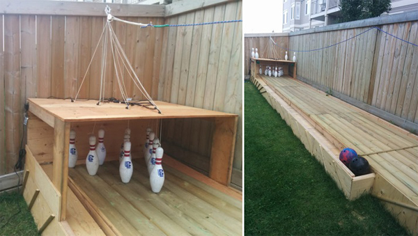 Build a Semi-automatic Bowling Alley In Your Backyard