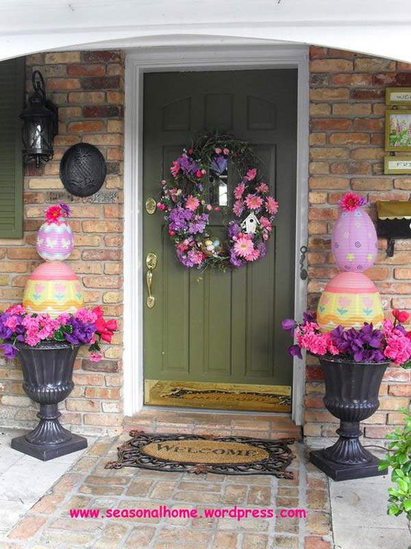 29 cool diy outdoor easter decorating ideas amazing diy for Easter home decorations