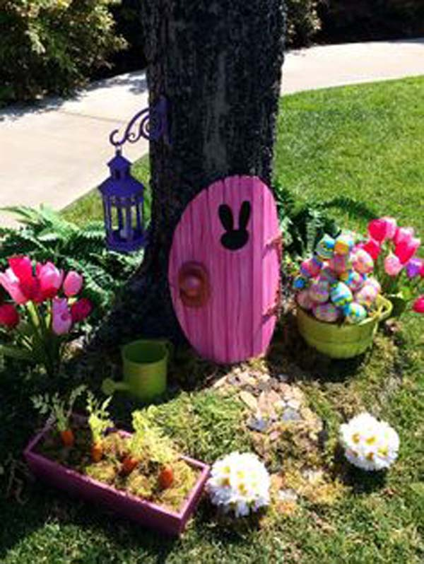 29 Cool DIY Outdoor Easter Decorating Ideas - Amazing DIY ... on Backyard Garden Decor id=44441