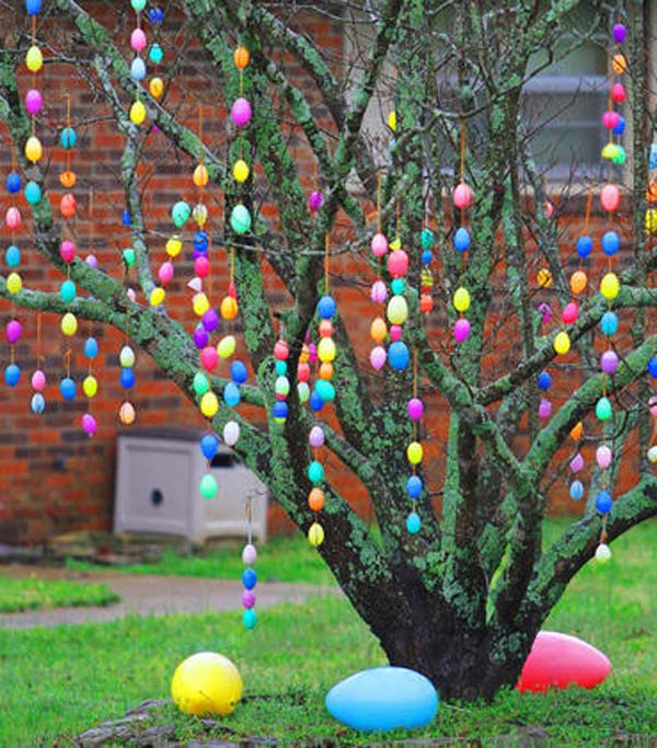 29 cool diy outdoor easter decorating ideas amazing diy How to make an easter egg tree