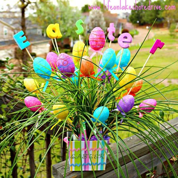 18 Spring Decor Ideas: 29 Cool DIY Outdoor Easter Decorating Ideas