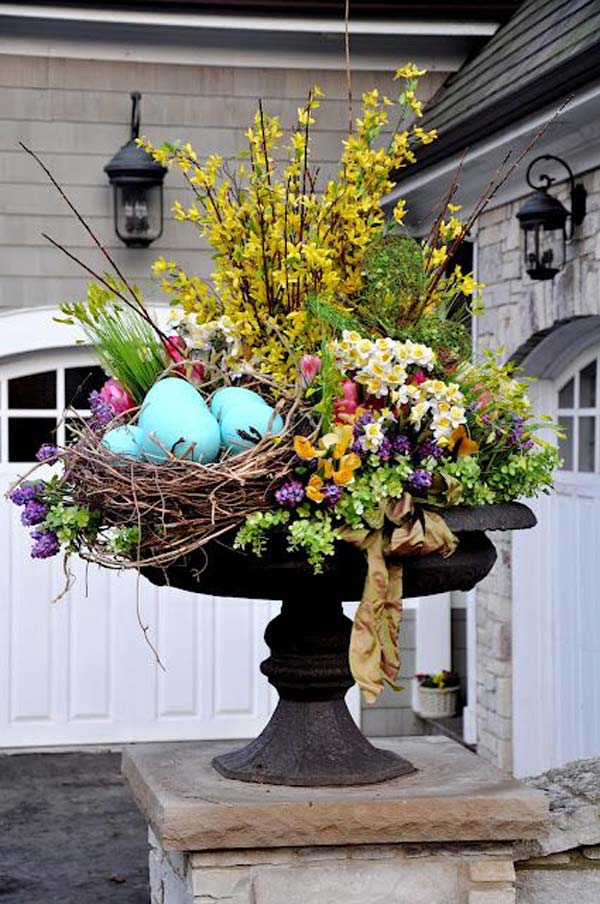 29 Cool DIY Outdoor Easter Decorating Ideas - Amazing DIY ... on Backyard Garden Decor id=30246