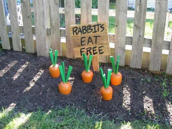 29 cool diy outdoor easter decorating ideas amazing diy for Homemade garden decorations