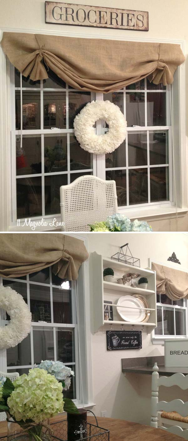 Valance Curtains Kitchen Easy Diy