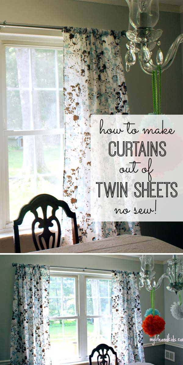 The Most 22 Cool No-Sew Window Curtain Ideas - Amazing DIY, Interior ...