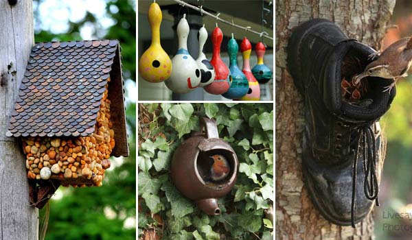 Awesome diy bird houses for a garden amazing diy for How to make homemade bird houses
