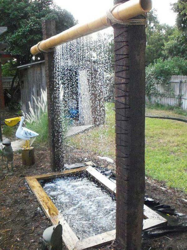 Build a log or wood slice fountain for backyard amazing Home made water feature