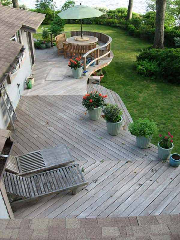 diy floating deck woohome 1 - Deck Ideen Design