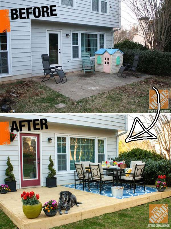 Top 19 Simple and Low-budget Ideas For Building a Floating ... on Diy Back Deck Ideas id=77964