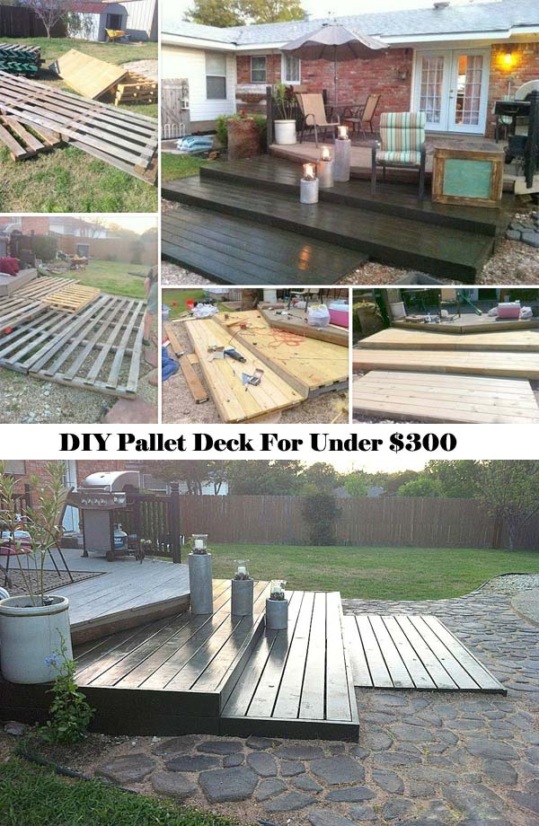 Top 19 Simple and Low-budget Ideas For Building a Floating ... on Diy Back Deck Ideas id=52649