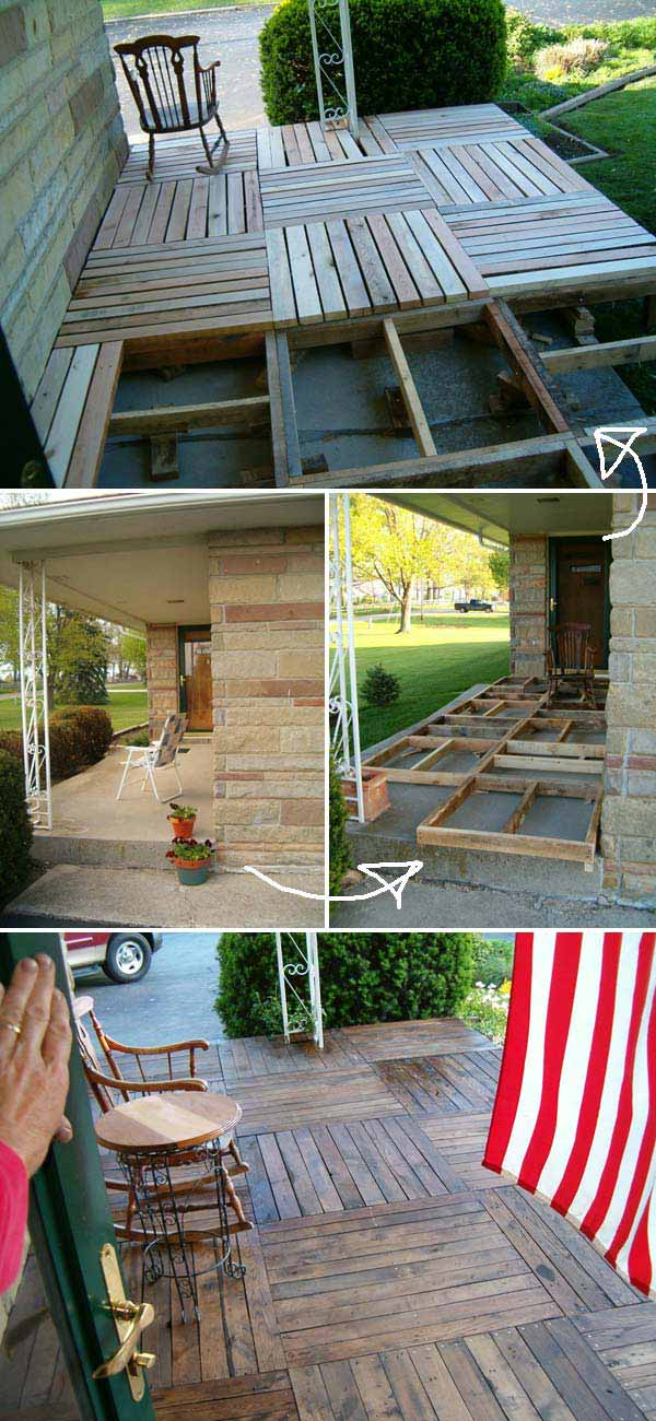 Top 19 Simple and Low-budget Ideas For Building a Floating ... on Stone Patio Ideas On A Budget id=52624