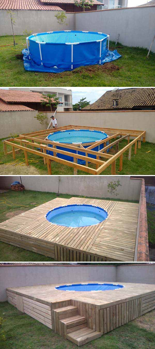 diy floating deck woohome 8 - Deck Ideen Design