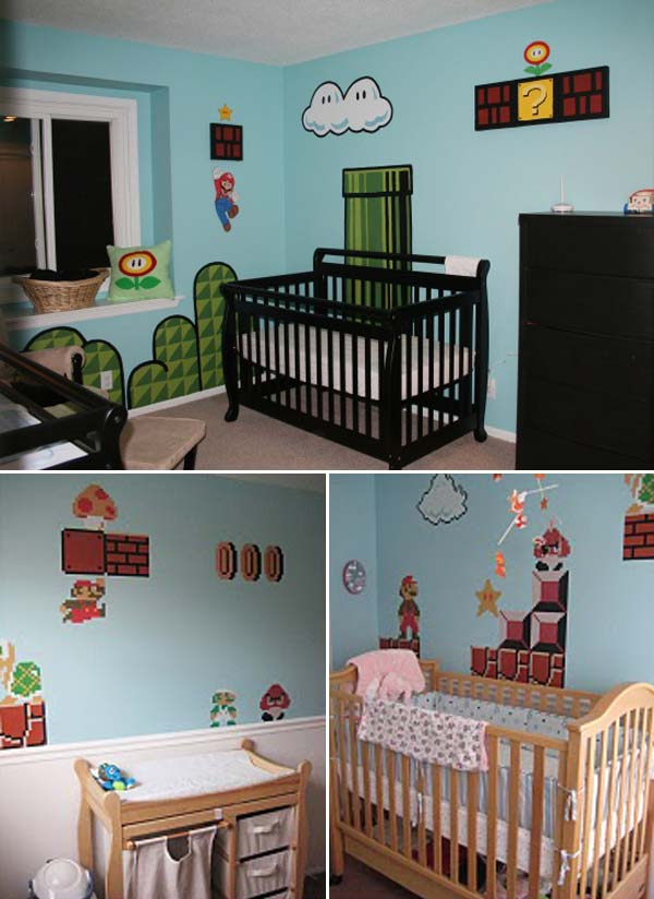 22 terrific diy ideas to decorate a baby nursery. Black Bedroom Furniture Sets. Home Design Ideas