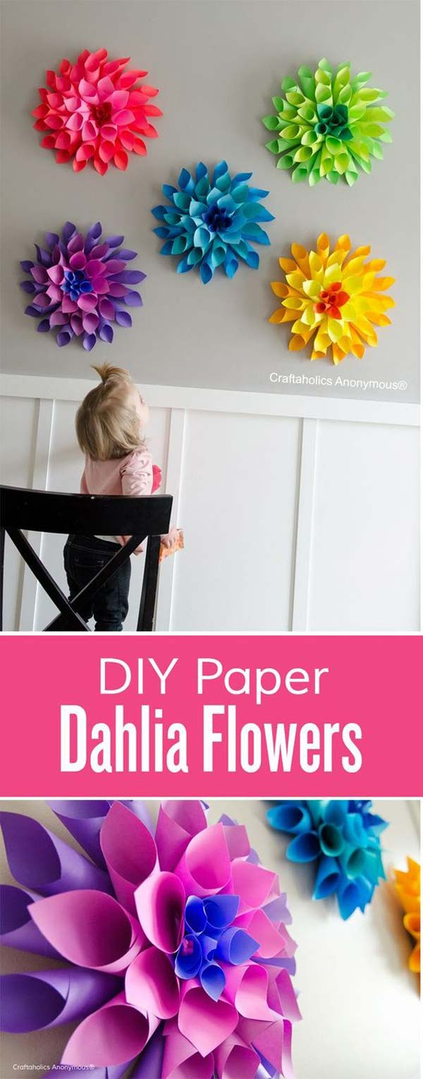 22 terrific diy ideas to decorate a baby nursery amazing for Cool things to make with paper for your room