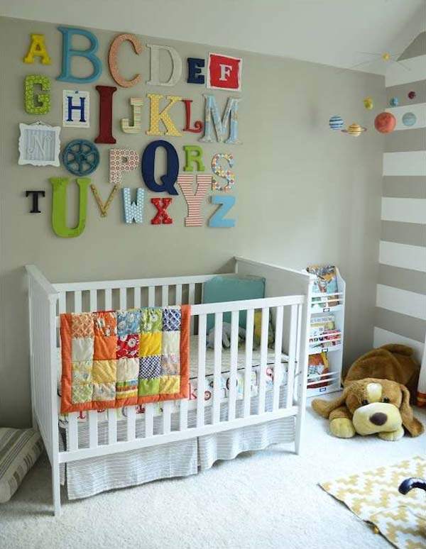 Decorating-ideas-for-Nursery-8 & 22 Terrific DIY Ideas To Decorate a Baby Nursery - Amazing DIY ...