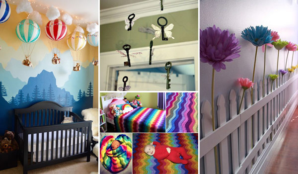 22 terrific diy ideas to decorate a baby nursery amazing for Baby girl crib decoration ideas