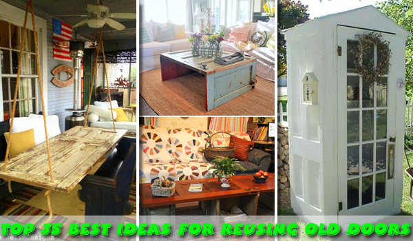 00-old-door-reusing-ideas-woohome & The Best 35 No-Money Ideas To Repurpose Old Doors - Amazing DIY ...