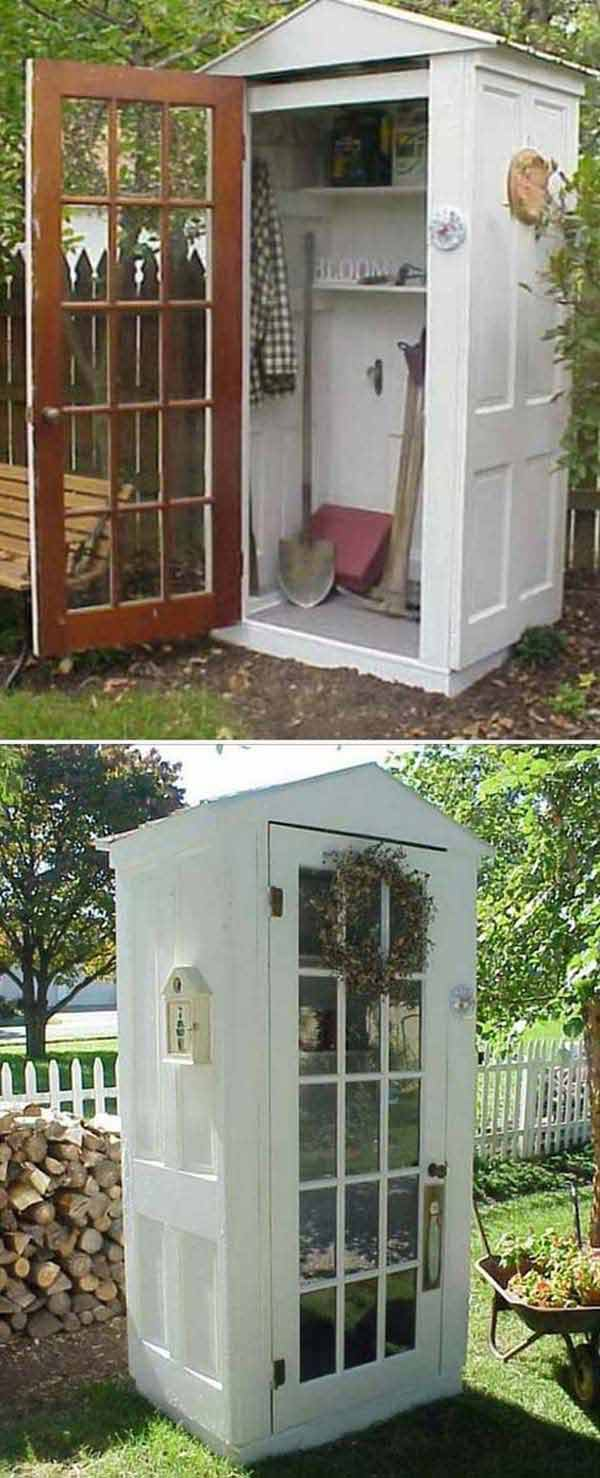 05-Tool-shed-made-from-old-doors-woohome