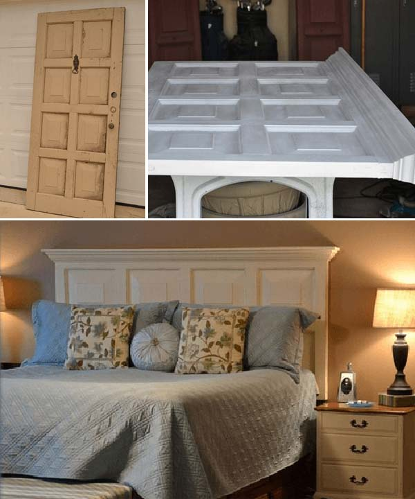 10-Repurpose-an-Old-Door-into-a-Bed-Frame-woohome