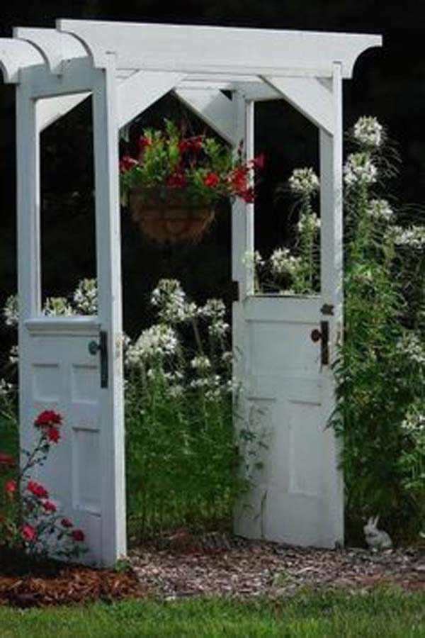13-garden-arch-made-from-old-doors-woohome & The Best 35 No-Money Ideas To Repurpose Old Doors - Amazing DIY ...