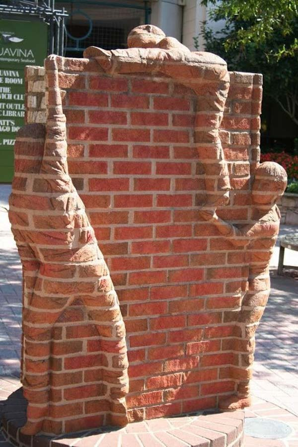 DIY Ideas For Creating Cool Garden or Yard Brick Projects ... on Backyard Masonry Ideas id=47105