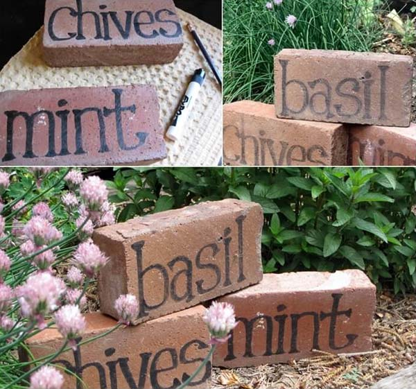 15 Creative Garden Ideas You Can Steal: DIY Ideas For Creating Cool Garden Or Yard Brick Projects