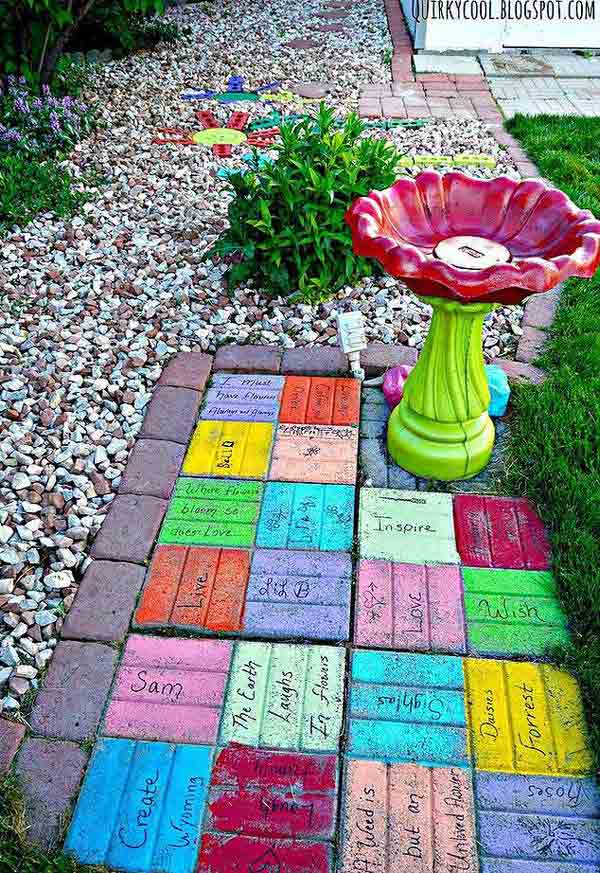 DIY Ideas For Creating Cool Garden or Yard Brick Projects ... on Brick Ideas For Backyard id=43098