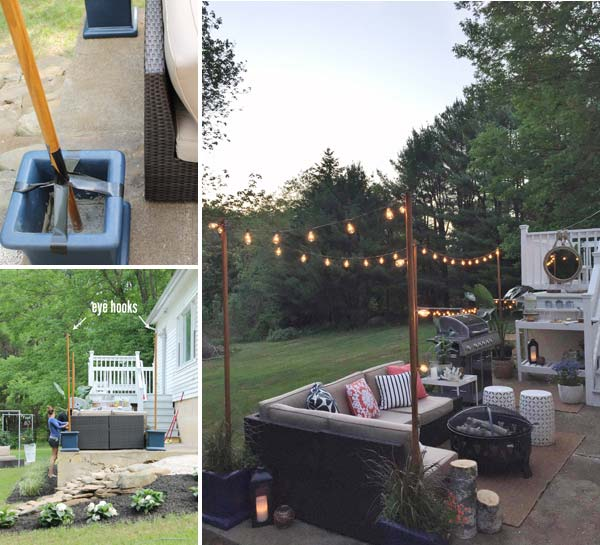 15 Deck Lighting Ideas For Every Season: 15 DIY Backyard And Patio Lighting Projects