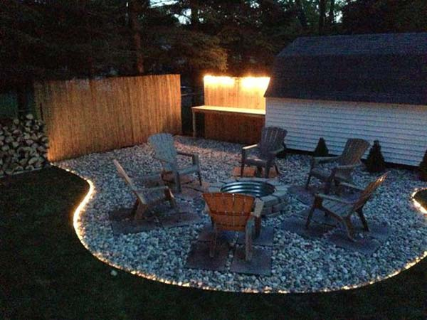 15 diy backyard and patio lighting projects amazing diy for Terrace lighting
