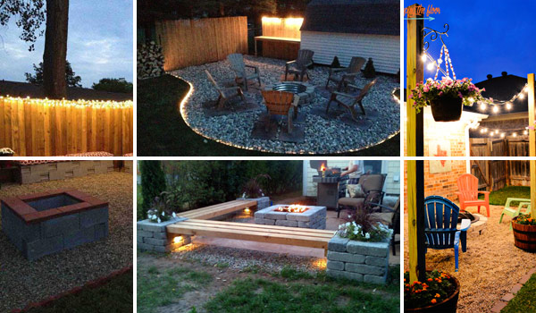 Elegant 15 DIY Backyard And Patio Lighting Projects