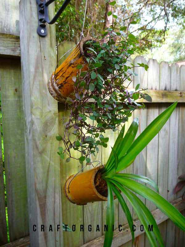 easy bamboo interior decoration. Natural  strong and easy planters you should try Top 21 Easy Attractive DIY Projects Using Bamboo Amazing