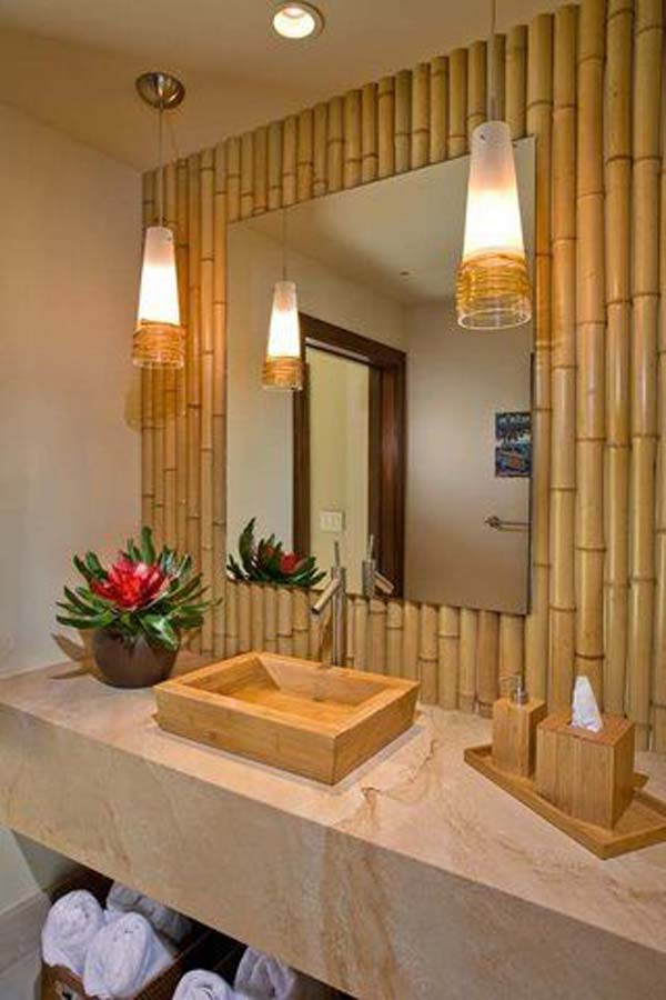 Top 21 easy and attractive diy projects using bamboo for Bambou interieur deco