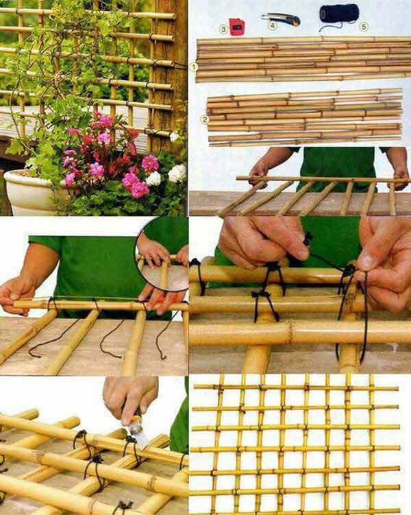 Top 21 easy and attractive diy projects using bamboo for Antorchas para jardin caseras