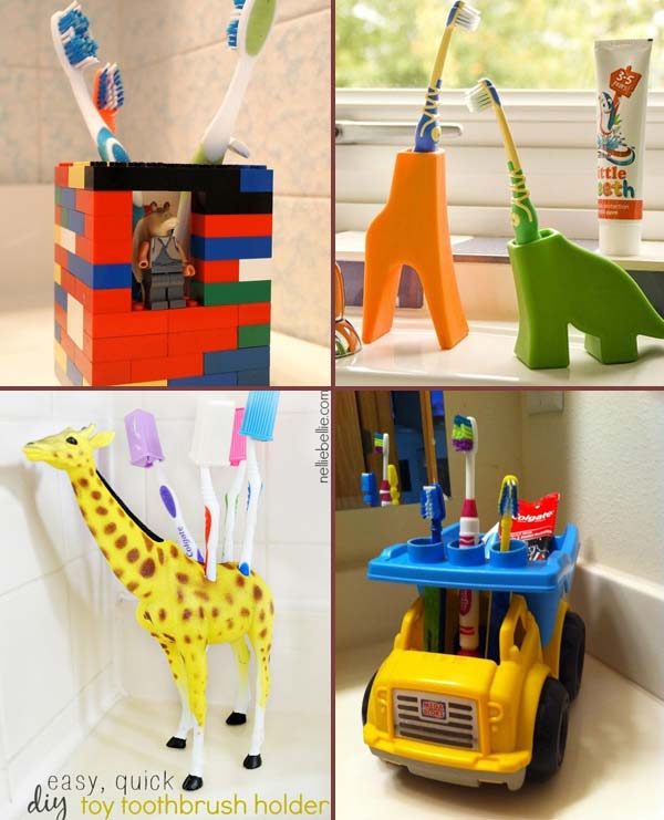 Diy A Toothbrush Holder Out Of Your Kid S Favorite Toy