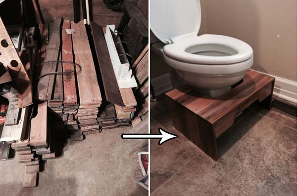 Build A Child Step Stool For The Toilet From Wood Pallets.