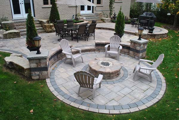 Build Round Firepit Area For Summer Nights Relaxing